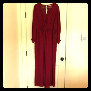Burgundy jumpsuit by Gipson & Latimer XL